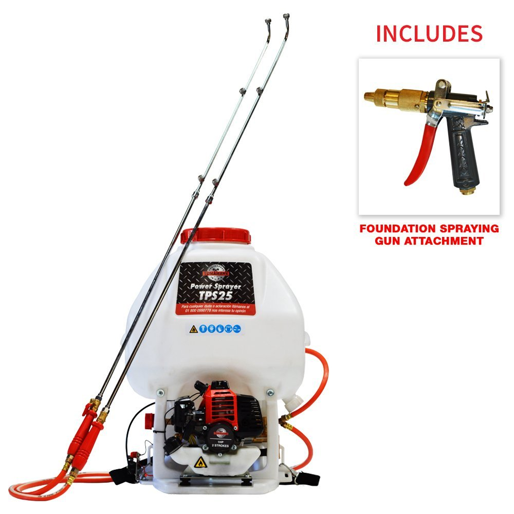 6.6 Gallon Gas Power Backpack Pesticide/Fertilizer Sprayer for ZIKA and Crop Farming with Foundation Gun Attachment