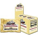 Fisherman's Friend Anis | Karton mit 24 Beuteln | Menthol und Anis Geschmack | Mit Zucker | Für frischen Atem