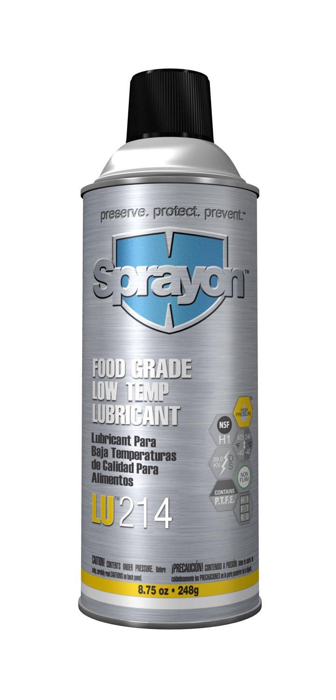 Sprayon LU214 FOOD GRADE LOW TEMPERATURE LUBE 15 oz Aerosol, SKU #00214000