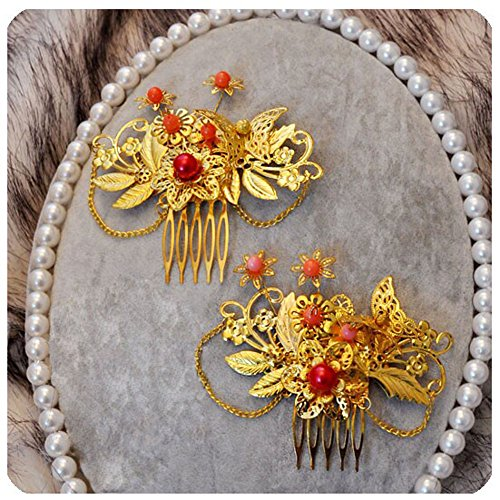 aditional Chinese Wedding Exquisite Hair Combs Accessory ()