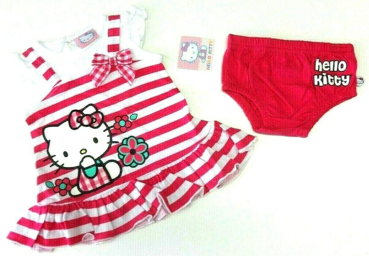Hello Kitty - Sommer Baby Outfit 50/56 Kleid + Höschen