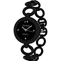 Howdy Modi Analogue Black Dial Women's Watch (Black) 318