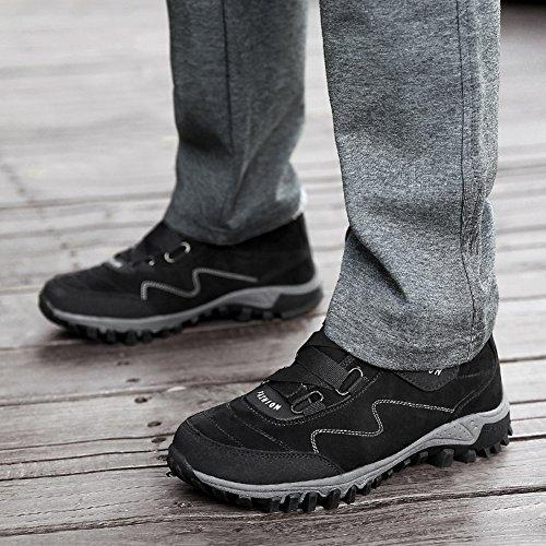Neige Antidã©rapantes Gomnear Bottes amp; Femmes Extã©rieure Cheville Chaud Noir Hommes Hiver Plates Chaussures x11Ffqzw