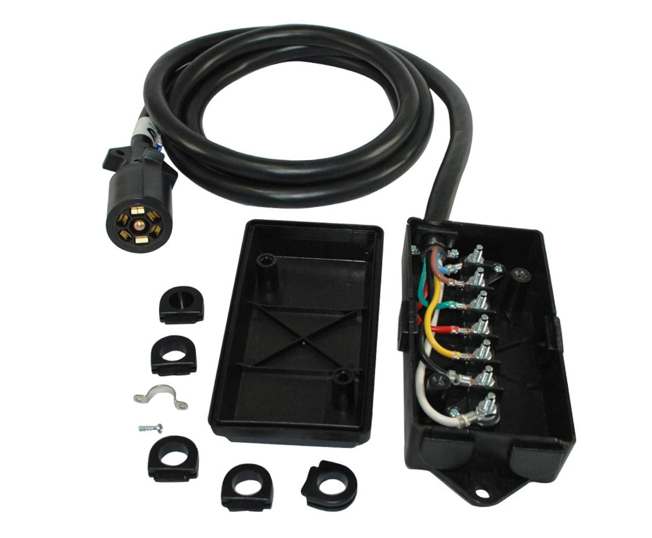 7 Way Wiring Box Reveolution Of Diagram Trailer Plug Schematic Amazon Com Conntek Cord And Junction Sports Rh 2006 Ram 1500