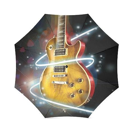 Amazon.com: Guitarra plegable paraguas sombrilla de lluvia ...