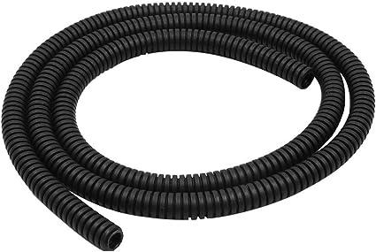 Color Negro X AUTOHAUX Tubo Flexible de Cable para Coche de 3,28 pies Tubo de Cable de Telar Dividido