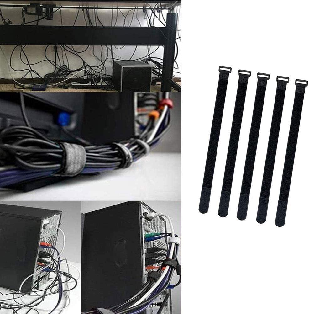 . Negro 30PCS Brida Autoadhesiva para Cables,Correa Ajustable Cinta Autoadhesiva Reutilizable,Organizador de Cable,Cinta de Acabado de Objetos,4 Longitudes Diferentes