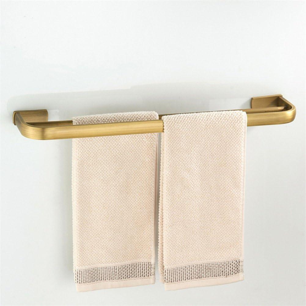 mensola portasciugamani a parete per bagno tutto in ottone anticato WOMAO Portasciugamani doppio da 60 cm portasciugamani