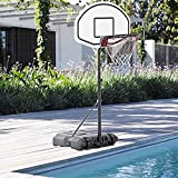 Cu AlightUp Portable Kids Junior Height-Adjustable Basketball System from 35.4'' to 47.2'' Basketball Hoop Stand W/ Wheels 28' x 19' Backboard Poolside Swimming Water