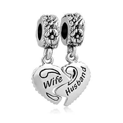 Uniqueen Heart Crystal Charms for European Charm Bracelets tCuuBMe