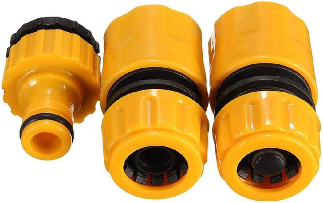 YSHTAN Quick Tab Connecters Climbing /& Hiking Equipment Adapter 3 Pcs Garden Car Water Hose Pipe Tap Connector Vehicle Washing Hosepipe Adapter