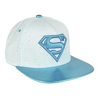 Artesania Cerda Gorra Visera Plana Moda Superman, Blanco (Blanco ...