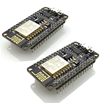 MakerFocus 2pcs ESP8266 NodeMCU LUA CP2102 ESP-12E Internet WiFi Development Board Serial Wireless Module Internet for Arduino IDE//Micropython with Free Adapter Board for ESP8266 ESP-01 and nRF24L01+