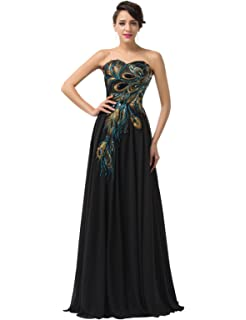 d87bb785cd2b GRACE KARIN Long Strapless Embroidery Prom Dress A-line CL6168  (Multi-Colored)