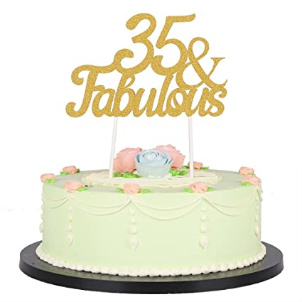 Amazon LXZS BH Gold Glitter Fabulous Cake TopperWedding