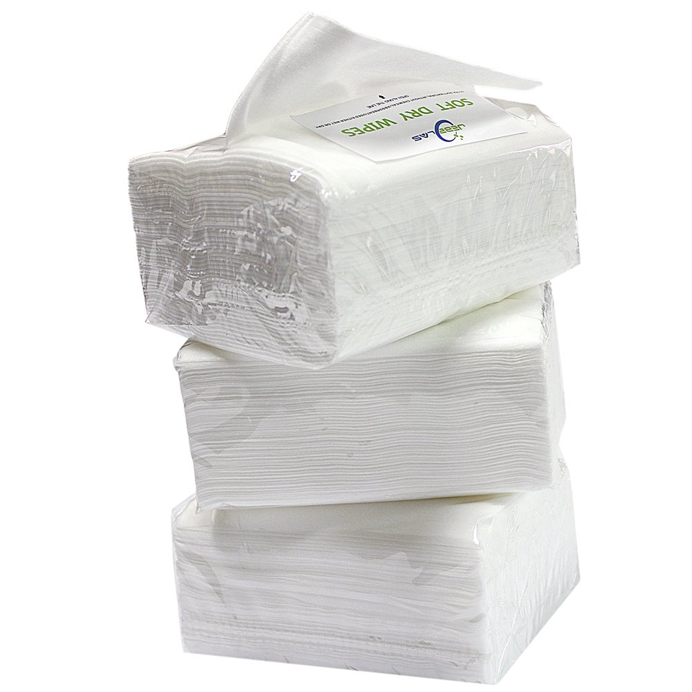 Jebblas Dry Baby Wipes Ultra-Soft Cleaning Cloth Unscented Paper Towels Super Gentle and Absorbent For Baby, Facial, Cleaning 50 Count/package (3)