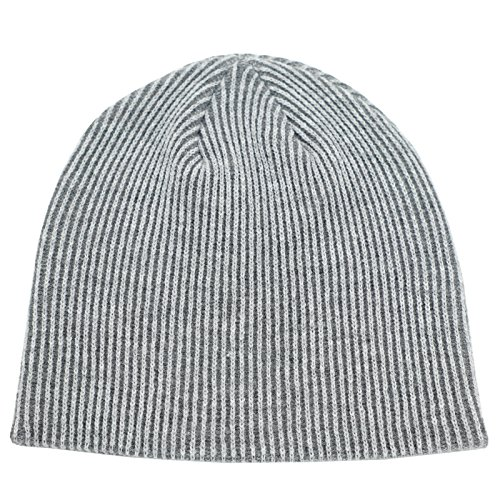 Connectyle Unisex Men's Daily Beanie Classic Knit Ribbed Beanie Hat Thin Skull Cap Winter Hats, Grey, Medium (Xxl Skull Cap)