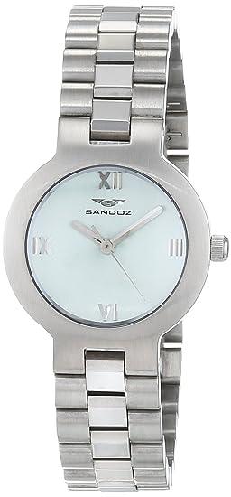 Sandoz Reloj Análogo clásico para Mujer de Cuarzo con Correa en Acero Inoxidable 81216-0855: Amazon.es: Relojes