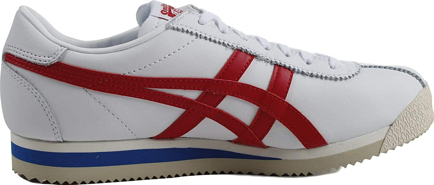 Onitsuka Tiger Corsair Ex Leather Mens White Trainers Red Stripes Athletic Shoes