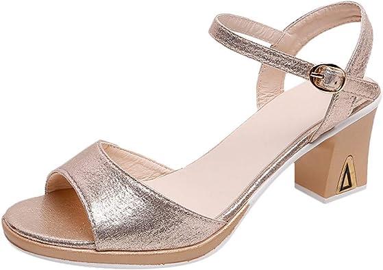 Women's Ankle Strap Open Toe Heeled
