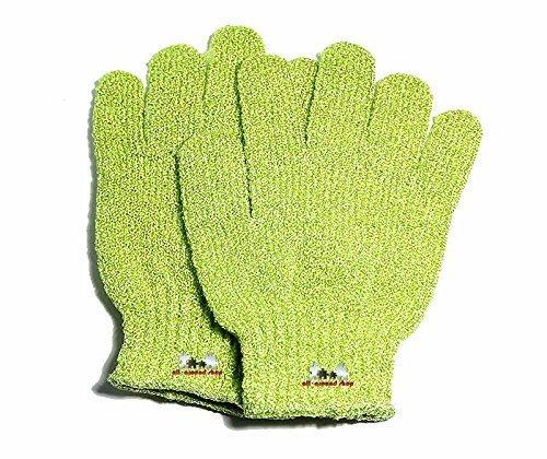 2 Stück Wasch- und Peelinghandschuh, Massage - Handschuh