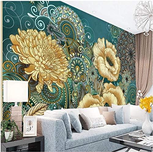 YWWZ&N 手描きのロマンチックな3Dフローラル壁画壁紙リビングルームの寝室の壁3D庭の花の壁画壁紙家の装飾A