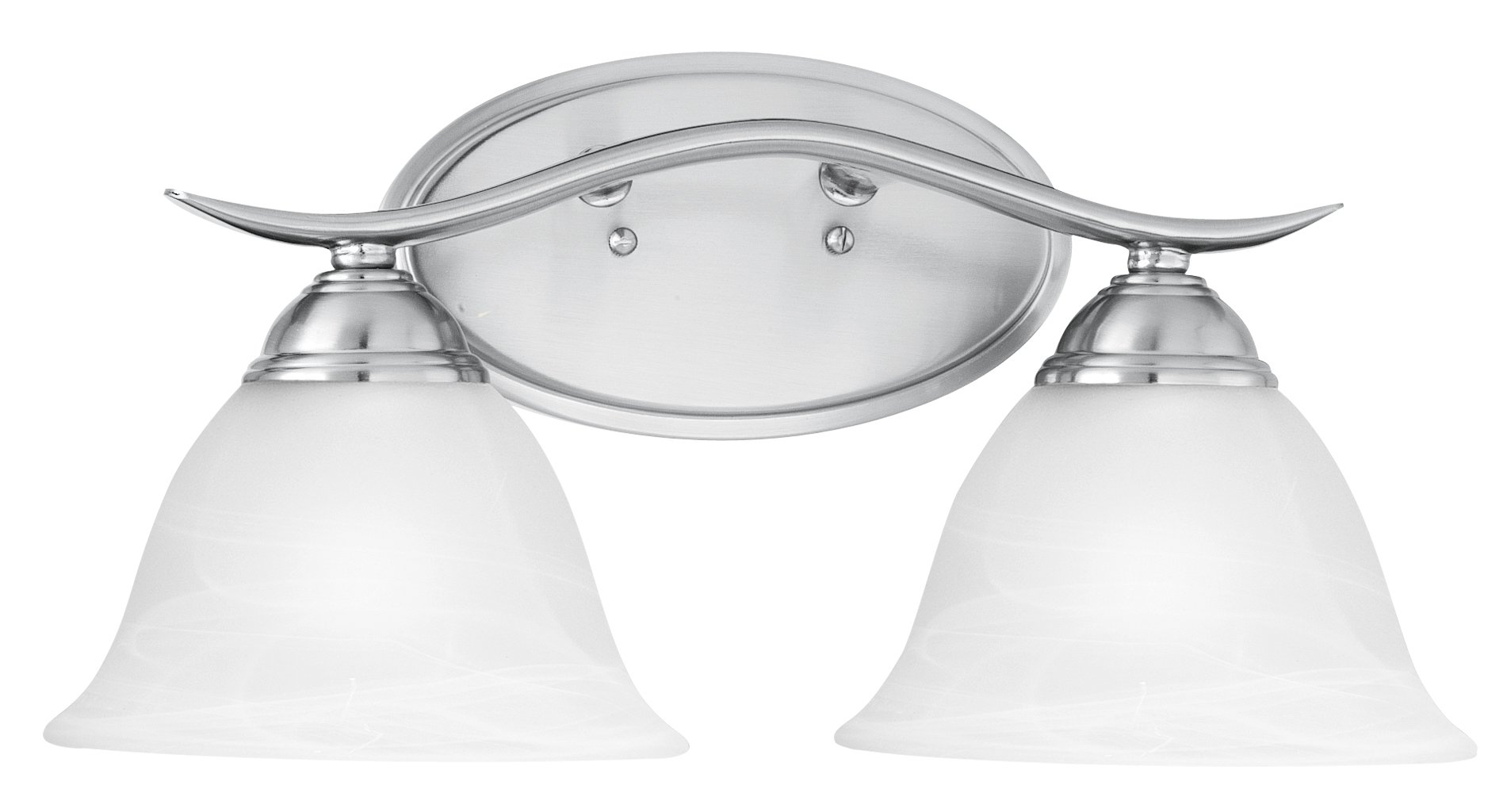 Thomas Lighting Sl7482-78 Prestige Two-Light Bath Fixture, Brushed Nickel