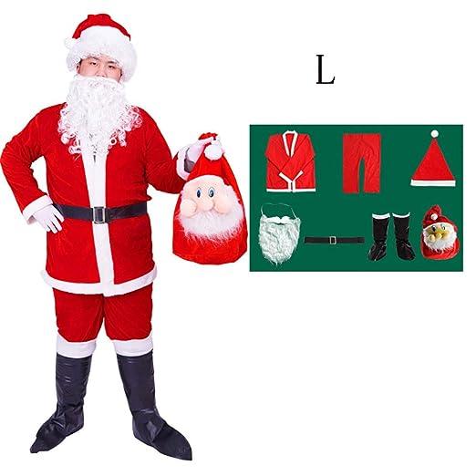 Wjf Traje de Santa Claus Ropa Hombres Cosplay y de Las ...