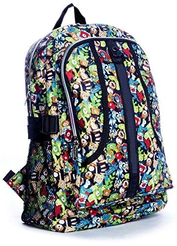 Big Handbag Shop ,  Unisex-Erwachsene Tasche Backpack 8130 - Green Scene