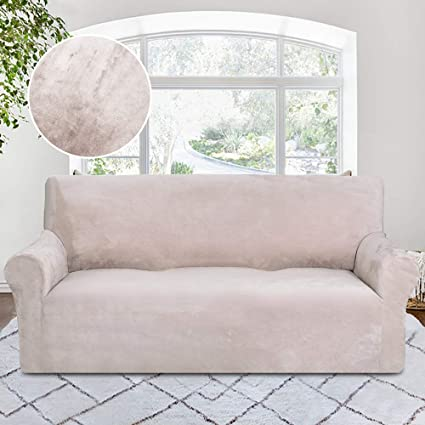 Amazon.com: RHF Velvet-Sofa Slipcover, Stretch Couch Covers for 3 ...