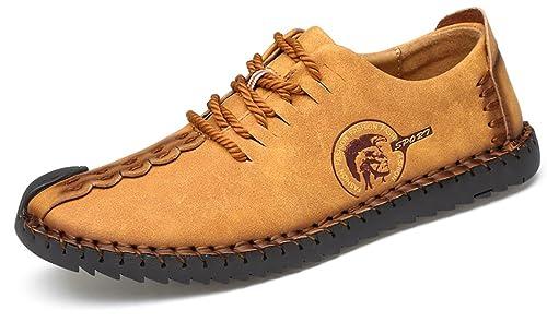 Phefee Zapatos de hombre de cuero Hombre Negocio Vestir Espacio de trabajo Cuero Partido Oxfords Zapatos Mocasines Zapatos casuales Zapatos bajos de bandas: ...