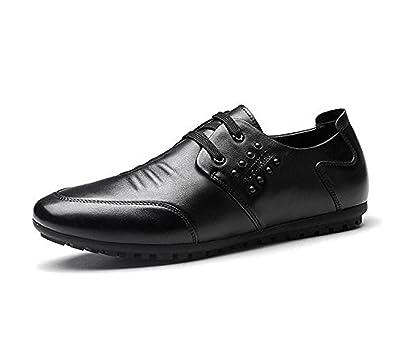 Koyi Printemps Nouveaux Hommes Robe D'affaires en Cuir Chaussures Creux Respirant Lacets Chaussures Occasionnels Hommes YhKnHV5dod