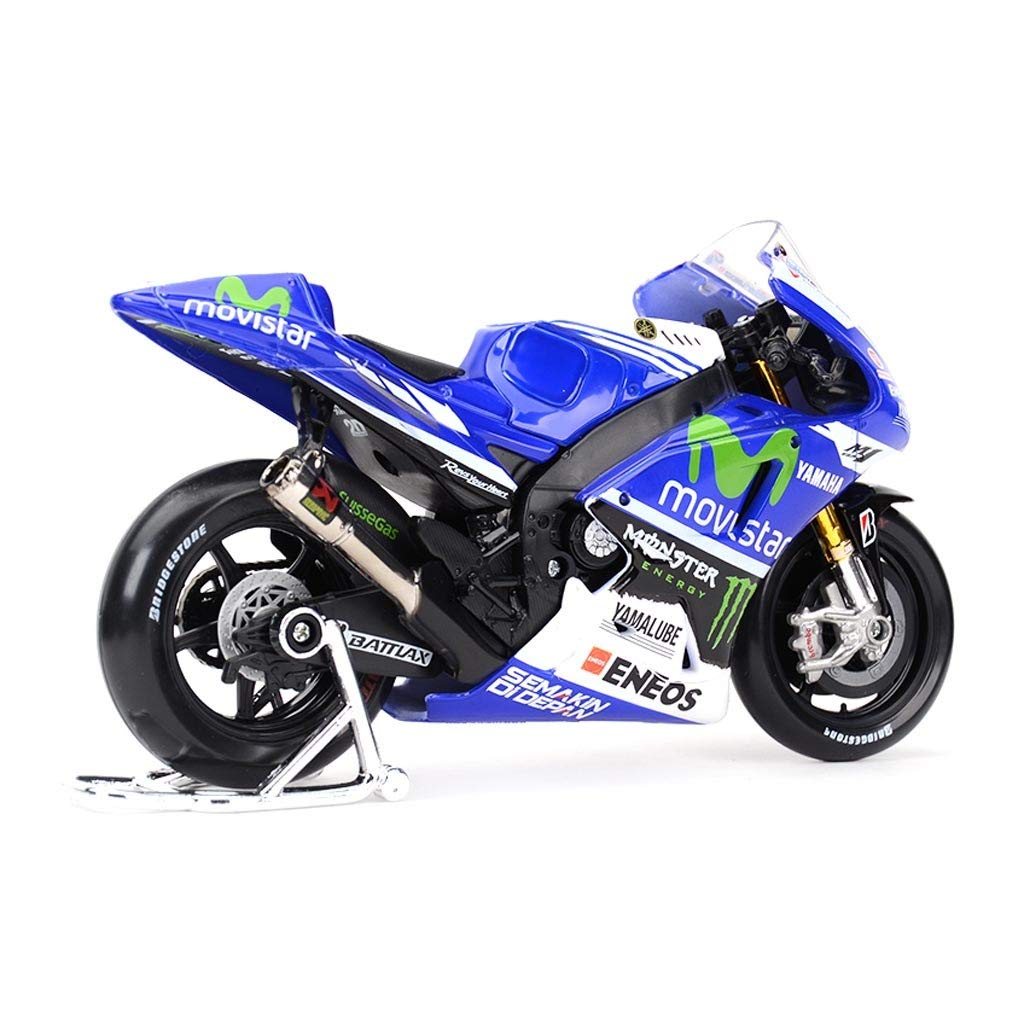 LBYMYB Motorcycle Toy Model 2014 Yamaha No. 99 Road Locomotive Simulation Alloy Motorcycle Model Collection Gifts