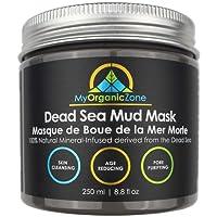Masque de Boue de La Mer Morte pour le Nettoyage des Pores du Visage et du Corps, Traitement de l'Acné, Anti-Vieillissement et Anti-Rides, Masque Facial Naturel Biologique pour une peau plus lisse et plus douce (250 g / 8,8 oz)