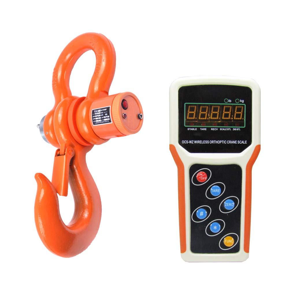 MXBAOHENG 10T Wireless Digital Electronic Hanging Crane Scale with Handheld Meter