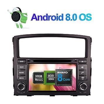 7 pulgadas Android 8.0 Octa Core 4GB RAM Radio estéreo del coche para Mitsubishi Pajero V97