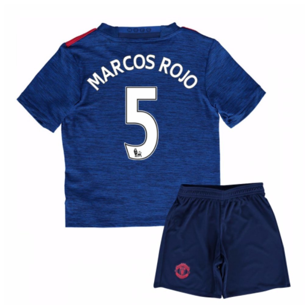 UKSoccershop 2016-17 Man United Away Mini Kit (Marcos Rojo 5)