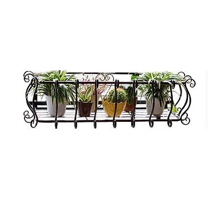 Amazon.com: Perchero para flores, soporte para balcón de ...