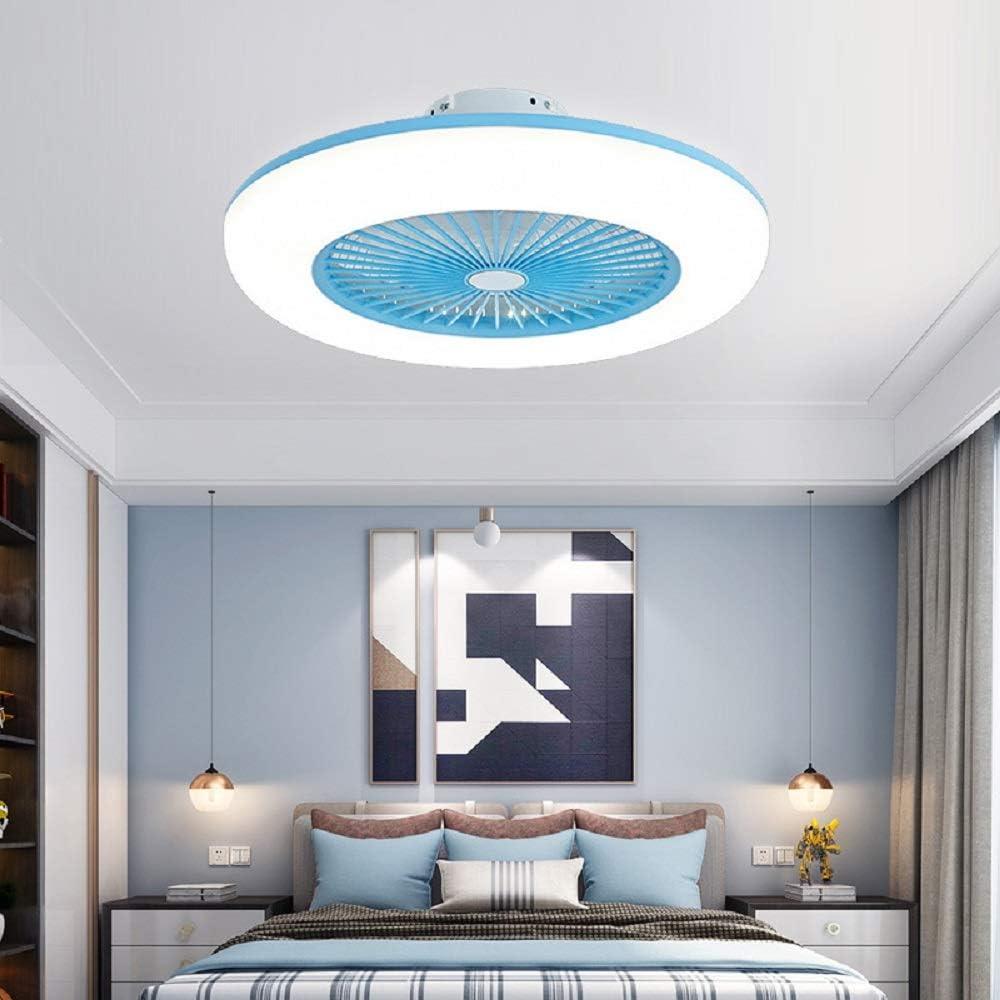 Deckenventilator mit Beleuchtung led Deckenlampe f/ür Schlafzimmer Wohnzimmer Esszimmer leise unsichtbare Deckenventilator LED Licht Gold Dimmbar mit Fernbedienung
