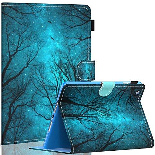 Dteck iPad mini 1/2/3 Case - Slim Fit Folio Stand PU Leather Case with Auto Sleep / Wake Feature Smart Cover for Apple iPad Mini 1/ iPad Mini 2 / iPad Mini 3, Forest Night