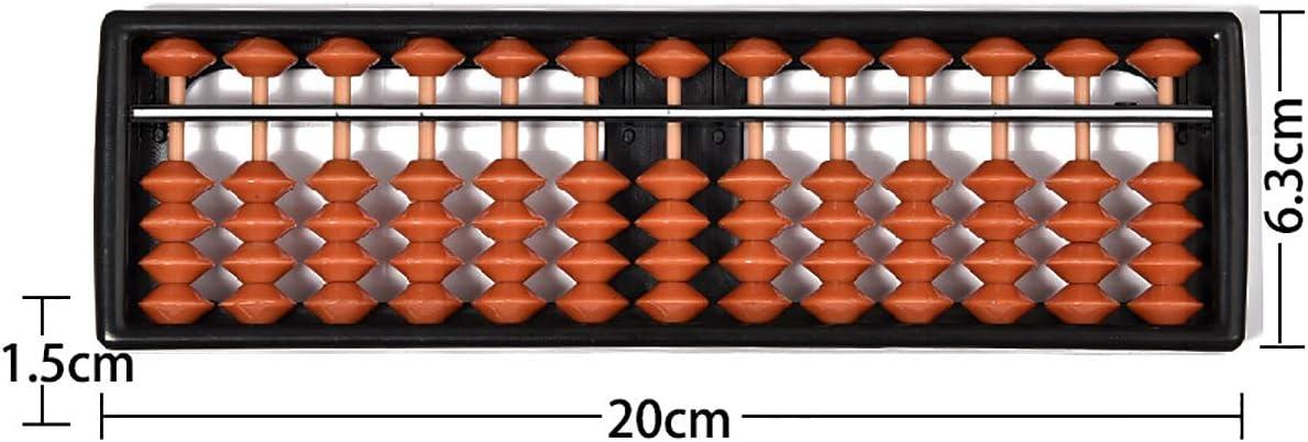 17/Chiffres tiges en bois Abacus Soroban chinois japonais calculatrice Counting Outil W//bouton de r/éinitialisation 35,6/cm vintage