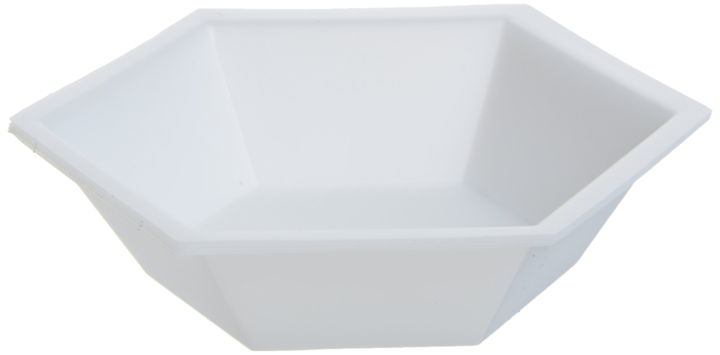 GMP Sales HEXWB-50 Polystyrene Hexagonal Weigh Boat, 40ml Capacity (Case of 500)