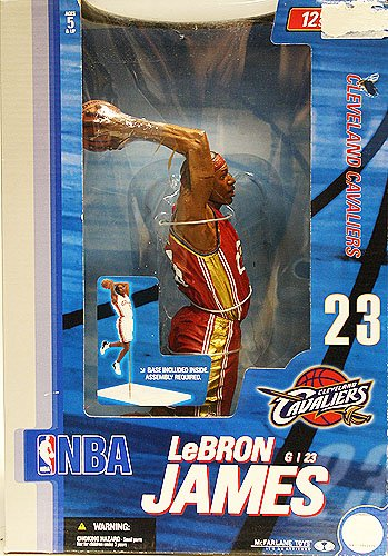 Price comparison product image McFarlane Toys NBA Sports Picks 12 Inch Deluxe Action Figure LeBron James (Cleveland Cavaliers) by Unknown