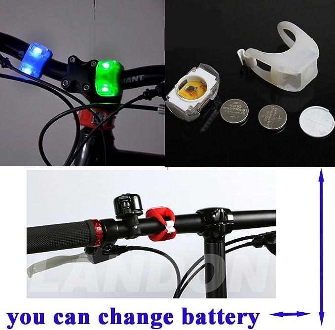 Cree 2x Luz LED frontal para manillar de bicicleta Wii Fire Linterna L/áMPARA para bicicletas bici CREE XM-L U2 con 2 x Luz Luces L/ámpara Trasera para Bici Bicicleta 2 focos, 5000 Lumens, 4 modos