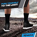 PowerLix Ankle Brace Compression Support Sleeve (Pair) for Injury Recovery, Joint Pain and More. Plantar Fasciitis Foot Socks with Arch Support, Eases Swelling, Heel Spurs, Achille