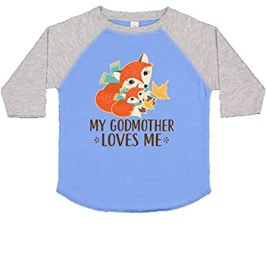 ead8b437 Amazon.com: inktastic - Godmother Loves Me Woodland Fox Toddler T-Shirt  2db1a: Clothing