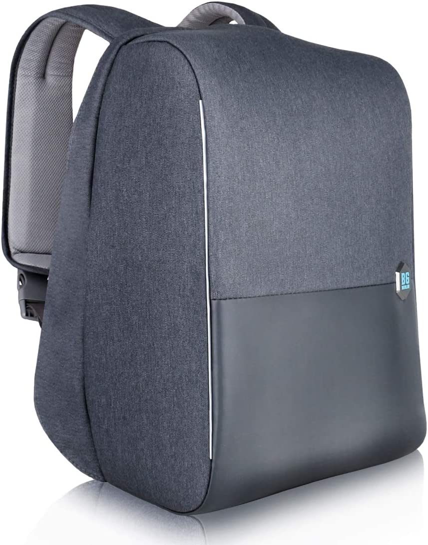 "Laptop Backpack Anti-Theft Fits 15.6"" Notebook for Men Women, USB Port, FRID Protection Pocket, Dark Grey"