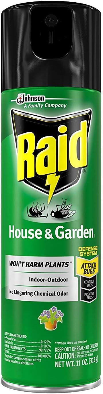 Raid House and Garden Aerosol, 11 OZ, Pack of 3