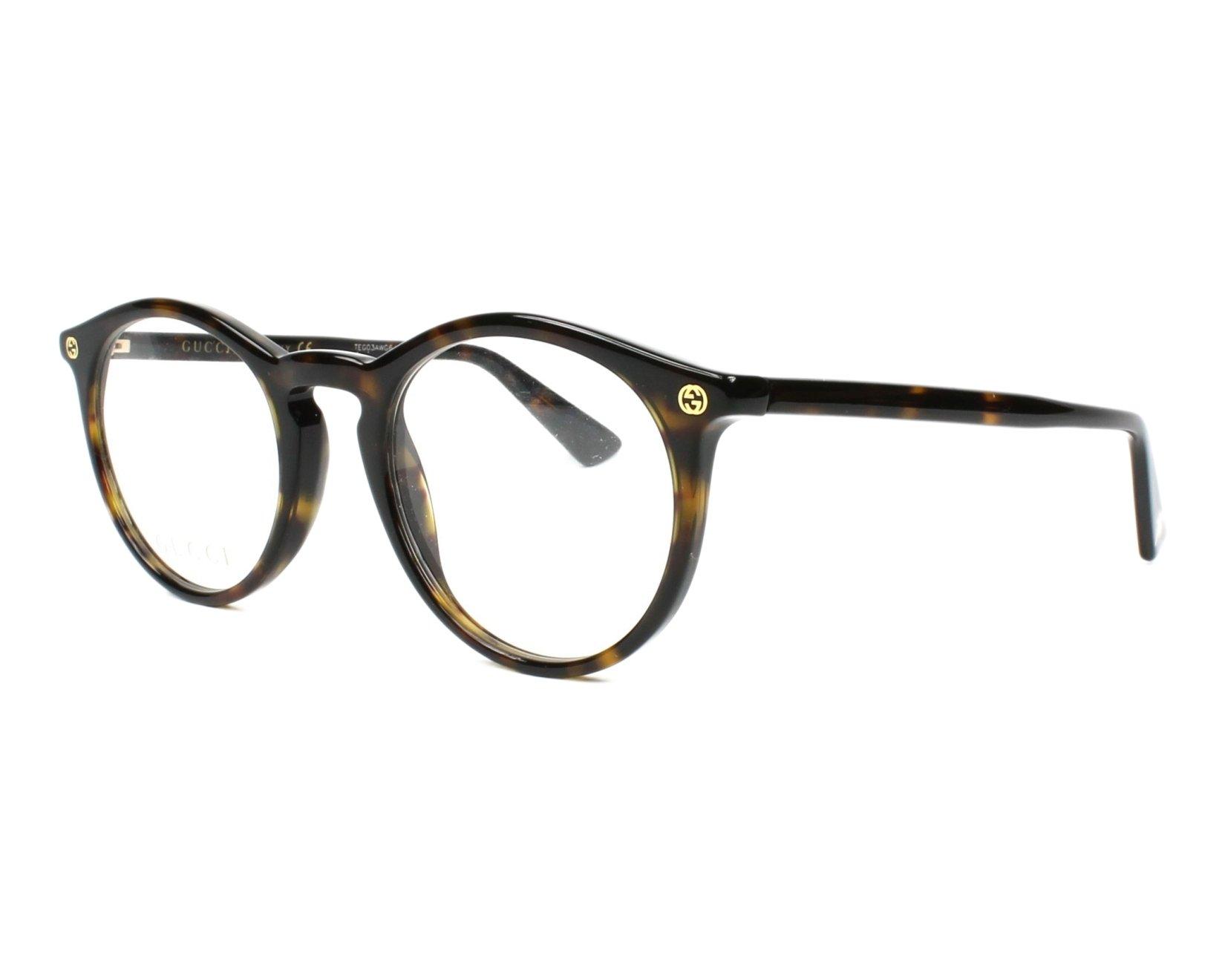 9a04d830417a Eyeglasses Gucci GG 0121 O- 002 002 AVANA   AVANA