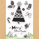 funny Christmas gel stamps Christmas tree presents